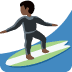 🏄🏿 person surfing: dark skin tone Emoji on Twitter Platform