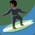 🏄🏿 person surfing: dark skin tone Emoji on Twitter Platform