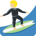 🏄🏼‍♂️ man surfing: medium-light skin tone Emoji on Twitter Platform