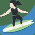 🏄🏻♀️ woman surfing: light skin tone Emoji on Twitter Platform
