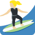 🏄🏼♀️ woman surfing: medium-light skin tone Emoji on Twitter Platform