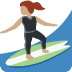 🏄🏽♀️ woman surfing: medium skin tone Emoji on Twitter Platform