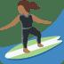 🏄🏾♀️ woman surfing: medium-dark skin tone Emoji on Twitter Platform