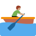 🚣🏽 person rowing boat: medium skin tone Emoji on Twitter Platform
