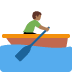 🚣🏾 person rowing boat: medium-dark skin tone Emoji on Twitter Platform