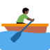 🚣🏿 person rowing boat: dark skin tone Emoji on Twitter Platform