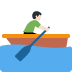 🚣🏻‍♂️ man rowing boat: light skin tone Emoji on Twitter Platform