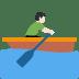 🚣🏻♂️ man rowing boat: light skin tone Emoji on Twitter Platform