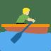 🚣🏼♂️ man rowing boat: medium-light skin tone Emoji on Twitter Platform
