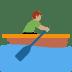 🚣🏽♂️ man rowing boat: medium skin tone Emoji on Twitter Platform