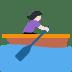 🚣🏻♀️ woman rowing boat: light skin tone Emoji on Twitter Platform