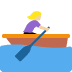 🚣🏼‍♀️ woman rowing boat: medium-light skin tone Emoji on Twitter Platform