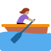 🚣🏽‍♀️ woman rowing boat: medium skin tone Emoji on Twitter Platform