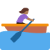 🚣🏾‍♀️ Medium Dark Skin Tone Woman Rowing Boat Emoji on Twitter Platform