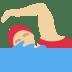 🏊🏼♀️ woman swimming: medium-light skin tone Emoji on Twitter Platform