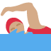 🏊🏽‍♀️ woman swimming: medium skin tone Emoji on Twitter Platform