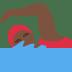 🏊🏿♀️ woman swimming: dark skin tone Emoji on Twitter Platform