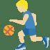 ⛹🏼 person bouncing ball: medium-light skin tone Emoji on Twitter Platform