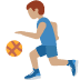 ⛹🏽‍♂️ man bouncing ball: medium skin tone Emoji on Twitter Platform