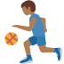 ⛹🏾‍♂️ man bouncing ball: medium-dark skin tone Emoji on Twitter Platform