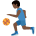 ⛹🏿♂️ man bouncing ball: dark skin tone Emoji on Twitter Platform