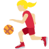 ⛹🏼‍♀️ woman bouncing ball: medium-light skin tone Emoji on Twitter Platform