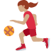 ⛹🏽‍♀️ woman bouncing ball: medium skin tone Emoji on Twitter Platform