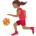 ⛹🏾‍♀️ woman bouncing ball: medium-dark skin tone Emoji on Twitter Platform