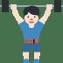 🏋🏻 person lifting weights: light skin tone Emoji on Twitter Platform