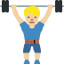 🏋🏼 person lifting weights: medium-light skin tone Emoji on Twitter Platform