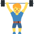 🏋️‍♂️ man lifting weights Emoji on Twitter Platform