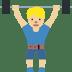 🏋🏼♂️ man lifting weights: medium-light skin tone Emoji on Twitter Platform