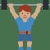 🏋🏽♂️ man lifting weights: medium skin tone Emoji on Twitter Platform