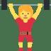 🏋️♀️ woman lifting weights Emoji on Twitter Platform