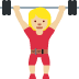 🏋🏼‍♀️ woman lifting weights: medium-light skin tone Emoji on Twitter Platform