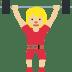 🏋🏼♀️ woman lifting weights: medium-light skin tone Emoji on Twitter Platform