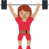 🏋🏽‍♀️ woman lifting weights: medium skin tone Emoji on Twitter Platform