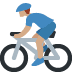 🚴🏽‍♂️ man biking: medium skin tone Emoji on Twitter Platform