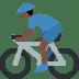 🚴🏿♂️ man biking: dark skin tone Emoji on Twitter Platform