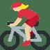 🚴🏼♀️ woman biking: medium-light skin tone Emoji on Twitter Platform