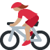 🚴🏽‍♀️ woman biking: medium skin tone Emoji on Twitter Platform