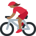 🚴🏾‍♀️ woman biking: medium-dark skin tone Emoji on Twitter Platform