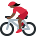 🚴🏿‍♀️ woman biking: dark skin tone Emoji on Twitter Platform
