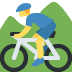 🚵 person mountain biking Emoji on Twitter Platform