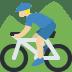 🚵🏼 person mountain biking: medium-light skin tone Emoji on Twitter Platform
