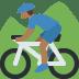 🚵🏾 person mountain biking: medium-dark skin tone Emoji on Twitter Platform