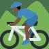 🚵🏿 person mountain biking: dark skin tone Emoji on Twitter Platform