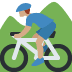🚵🏽‍♂️ man mountain biking: medium skin tone Emoji on Twitter Platform
