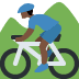 🚵🏿‍♂️ man mountain biking: dark skin tone Emoji on Twitter Platform