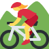 🚵‍♀️ woman mountain biking Emoji on Twitter Platform
